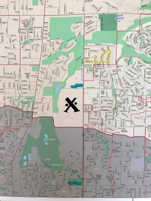 map of proposed development SJR8